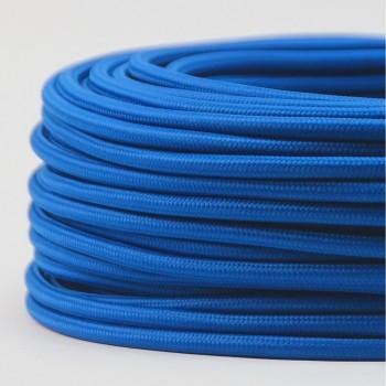 Cable Textil Vintage Electrico Retro Iluminación Azul Cobalto Thick