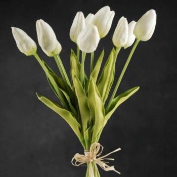 Tulipán Crema Artificial Tipo Natural Bodas Ramos Botonier Boutonniere