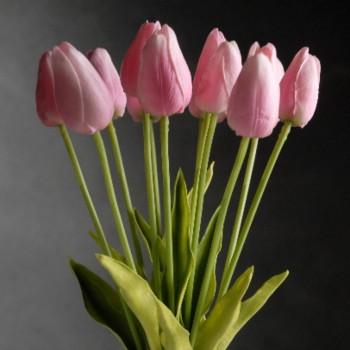 Tulipán Rosa Artificial Tipo Natural Bodas Ramos Botonier Boutonniere