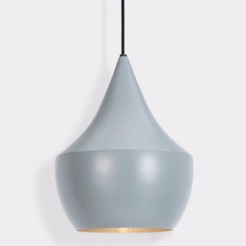 Lámpara Tom Dixon Fat Gray Beat Gris Decoración Diseño de Interiores
