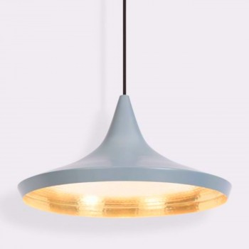 Lámpara Tom Dixon Wide Gray Beat Gris Decoración Diseño de Interiores