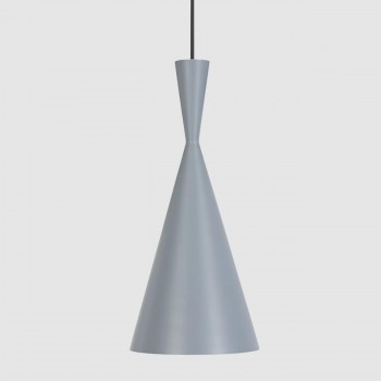 Lámpara Tom Dixon Tall Gray Beat Gris Decoración Diseño de Interiores