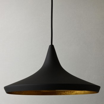 Lámpara Tom Dixon Black Beat Wide Negro Colgante Industrial Decorativa