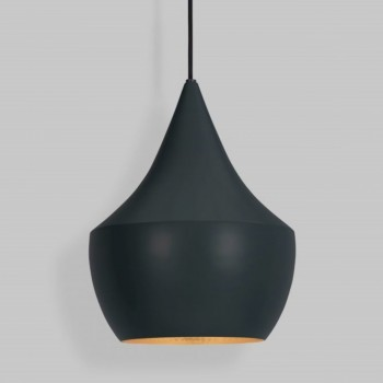 Lámpara Tom Dixon Black Beat Fat Negro Colgante Industrial Decorativa