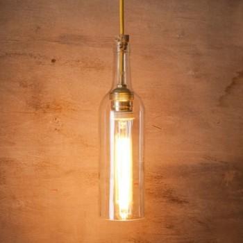 Lámpara Botella Antique Cristal Vintage Industrial Retro Colgante Techo