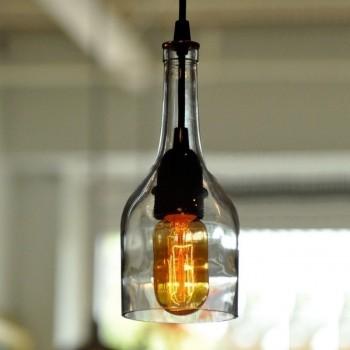 Lámpara Colgante Vintage Industrial Botella Corta Cocina Comedor Barra