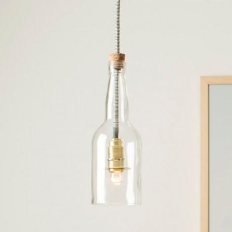 Lámpara Botella Cristal Decoración Interiores Arquitectura Diseño Estilo