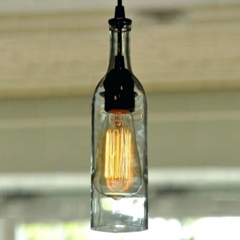 Lámpara Colgante Botella Vidrio Edison Decoración Minimalista Retro