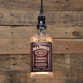 Lámpara Botella Whiskey Jack Daniels Iluminación Decoración Bar Barra