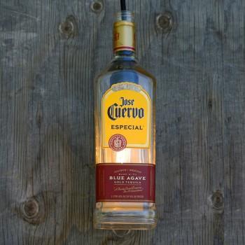 Lámpara Botella Tequila Jose Cuervo Especial Reciclada Hecha a Mano