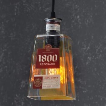 Lámpara Botella Tequila 1800 Colgante Iluminación Decoración Bar Barra