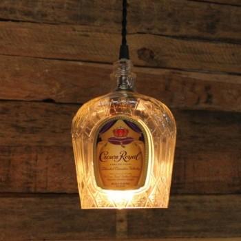 Lámpara Botella Whiskey Crown Royal Iluminación Bar Barra Restaurante