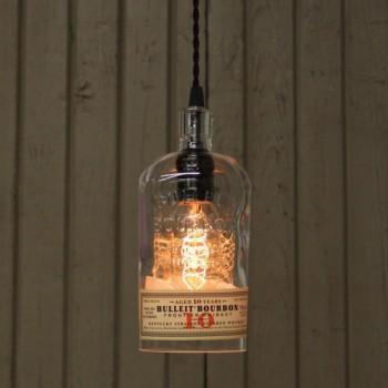 Lámpara Botella Whiskey Bulleit Bourbon Iluminación Decoración Estilo
