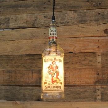 Lámpara Botella Ron Captain Morgan Colgante Techo Reciclada Artesanal
