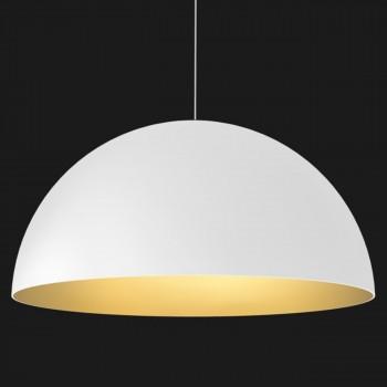 Lámpara Domo Blanco Dorado