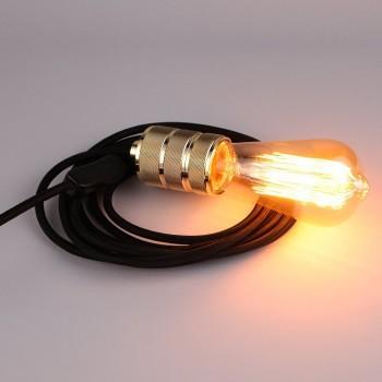 Lámpara Moderna Negro Enchufe