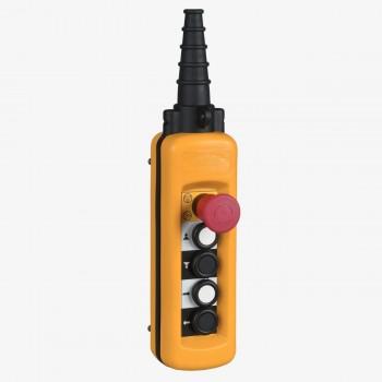 Botonera Colgante 4 Pulsadores + 1 Paro de Emergencia XACA4913 Schneider