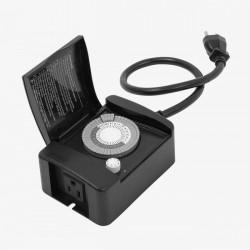 Timer Mecánico Exterior Enchufe Contacto 24 Horas Tecnolite TTME-158