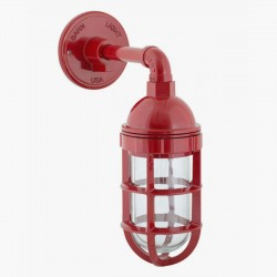 Lámpara Bunker Retro Rojo Vintage Industrial Náutica Marina Decorativa