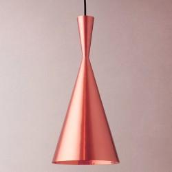 Lámpara Colgante Techo Decorativa Sala Oro Rosa Cobre Beat Copper Tall