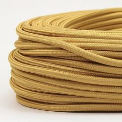 Cable Textil Dorado Grueso Vintage Eléctrico Decorativo Lámparas Retro