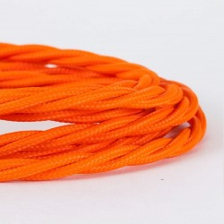 Cable Trenzado Torcido Naranja Reemplazo Lámparas Luminarias Iluminación