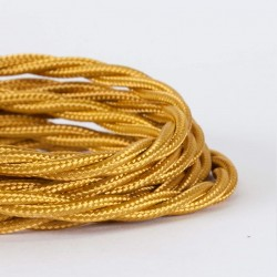 Cable Trenzado Torcido Dorado Reemplazo Lámparas Luminarias Iluminación