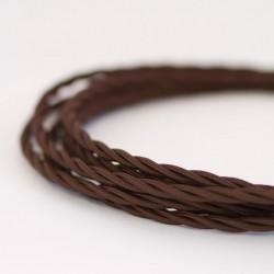 Cable Trenzado Torcido Chocolate Oscuro Café Lámparas Luminarias Iluminación