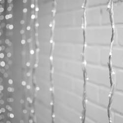 Cortina Luces LED Evento Boda Navidad Decoración Blanco 3.6 X 1.6 Mts