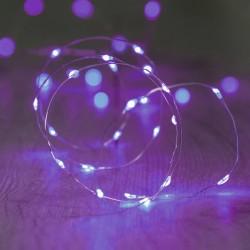 Luces de Hadas Pilas Baterías AA LED Halloween Morado Púrpura 3 Mts