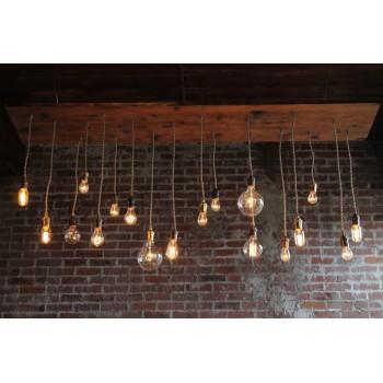 Candelabro Lampara Vintage Industrial Racimo 18 Focos Edison