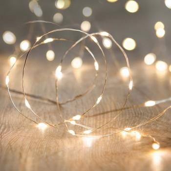 Luces de Hadas Pilas Baterías AA LED Series Eventos Bodas Cálido 3 Mts