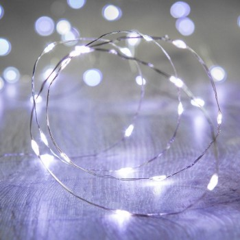 Luces LED Pila Baterías AA Series Evento Boda Fairy Lights Blanco 3 Mts