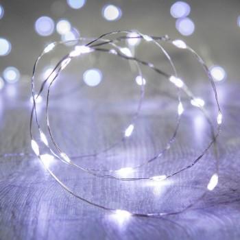Luces LED Pila Baterias AA Series Evento Boda Fairy Lights Blanco 3 Mts